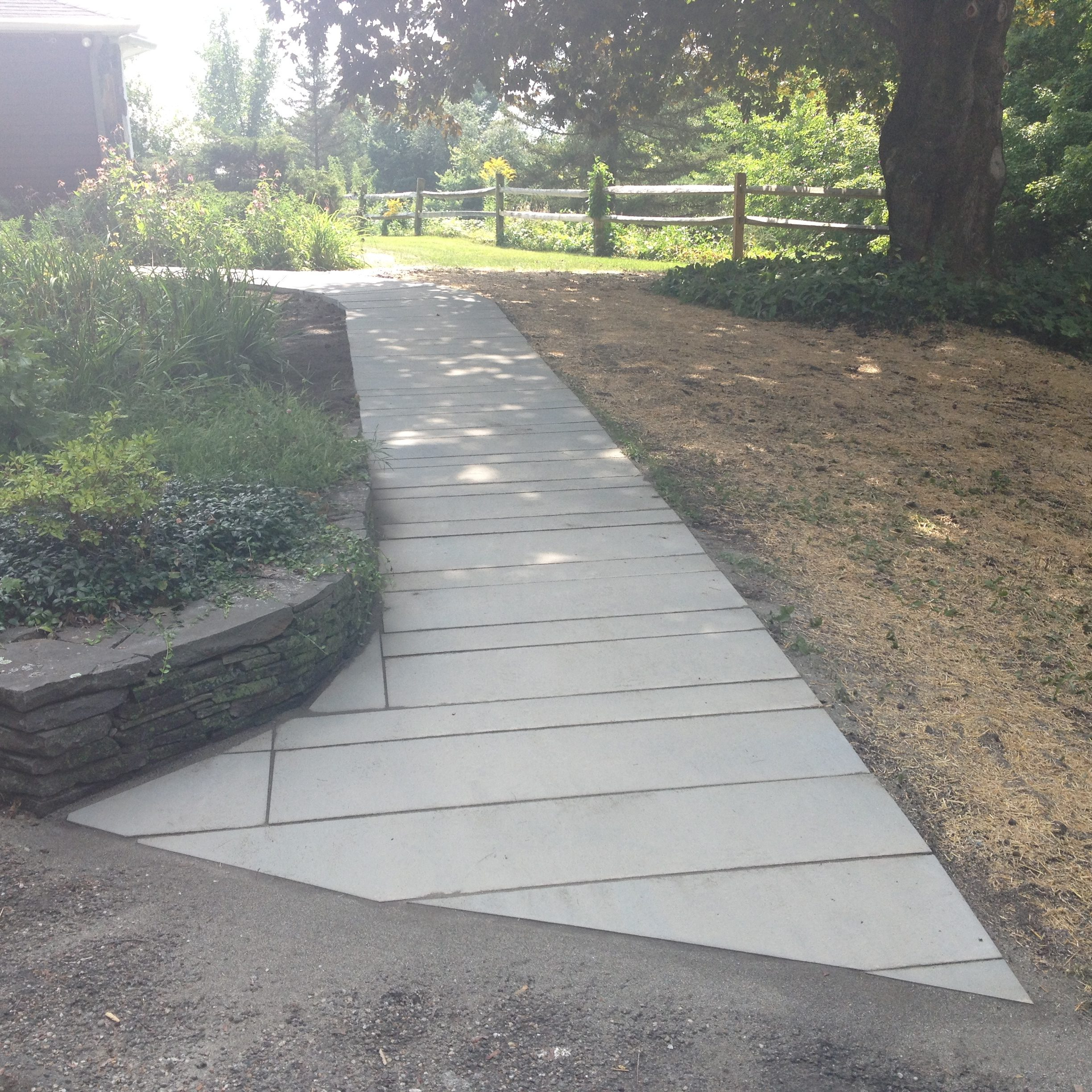 Finished Walkway